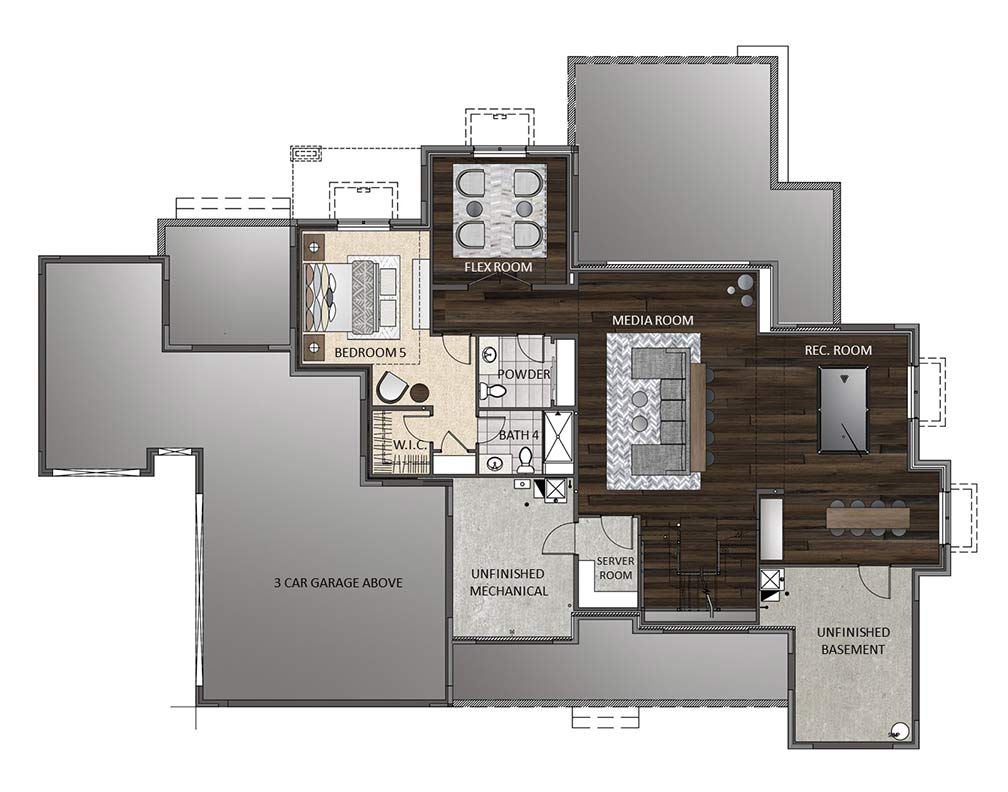 Finished Basement - View Options
