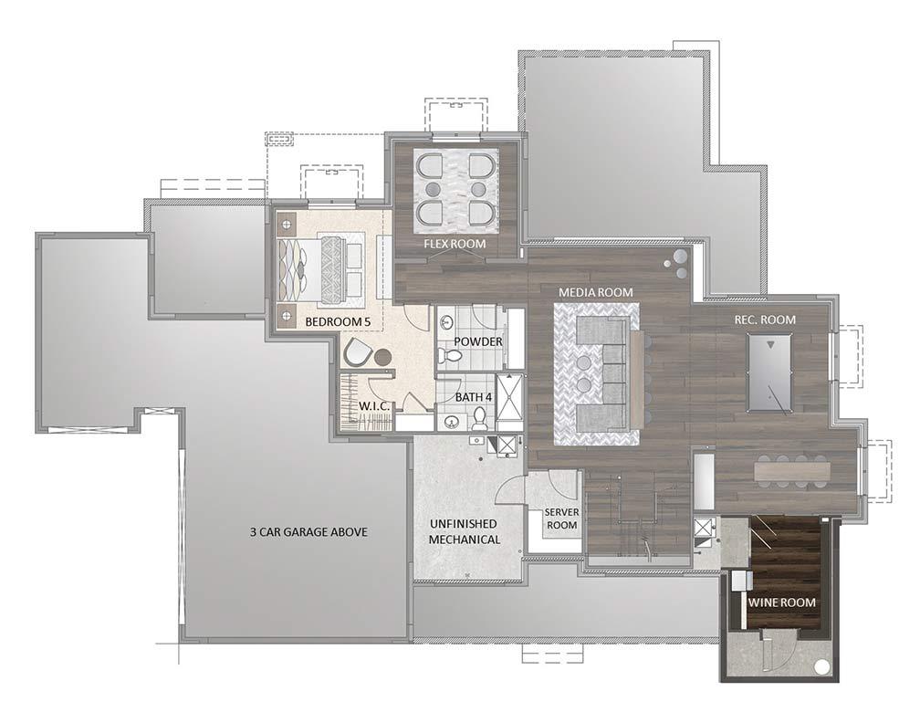 Finished Basement - Wine Room Option