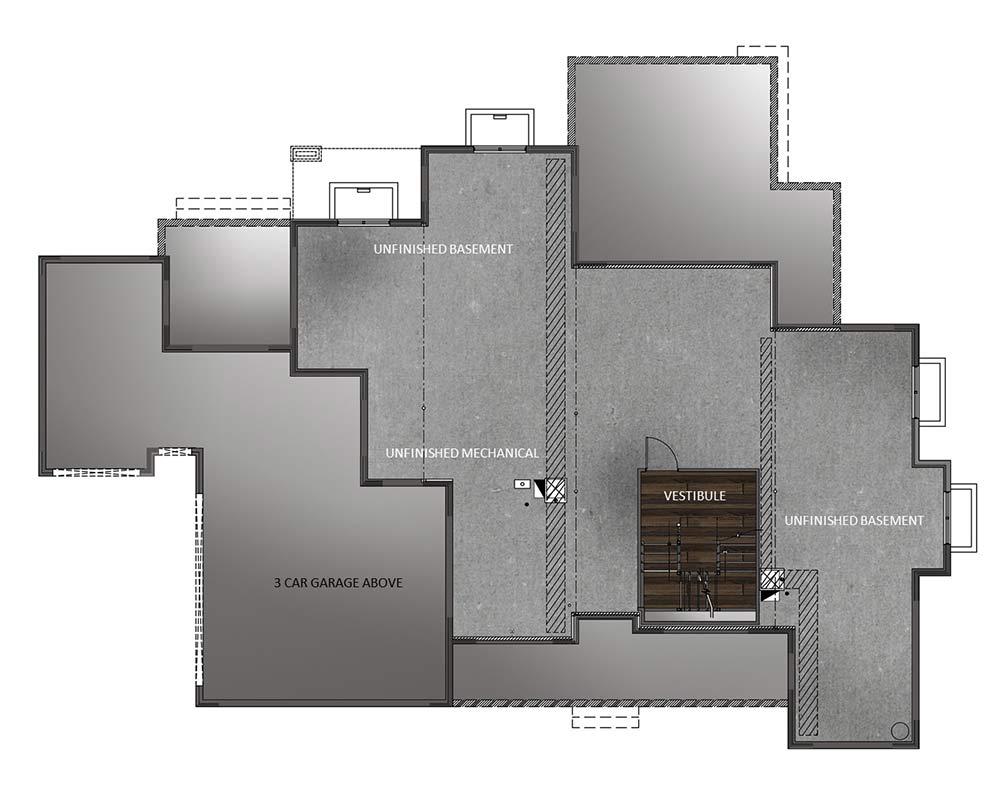 Unfinished Basement - Base Plan
