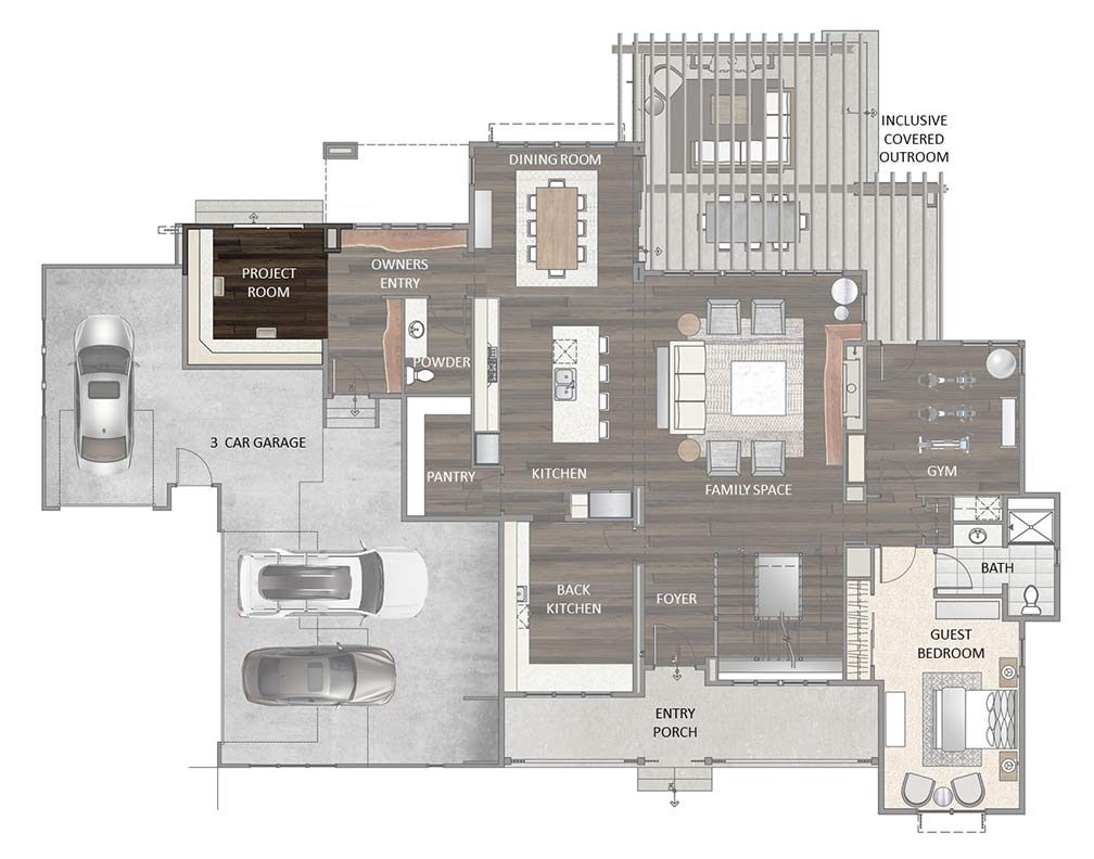 Main Level - Project Room Option