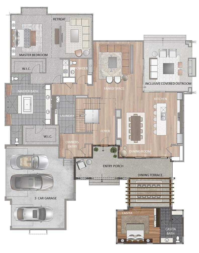 Main Level - Casita Option